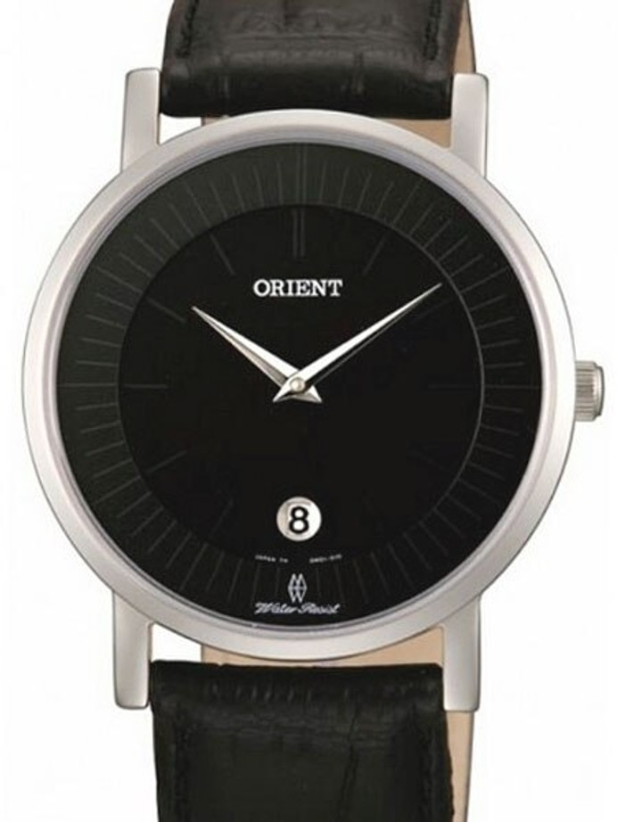 Orient Class Quartz Dress Watch with Sapphire Crystal and Black Dial  #GW01009B