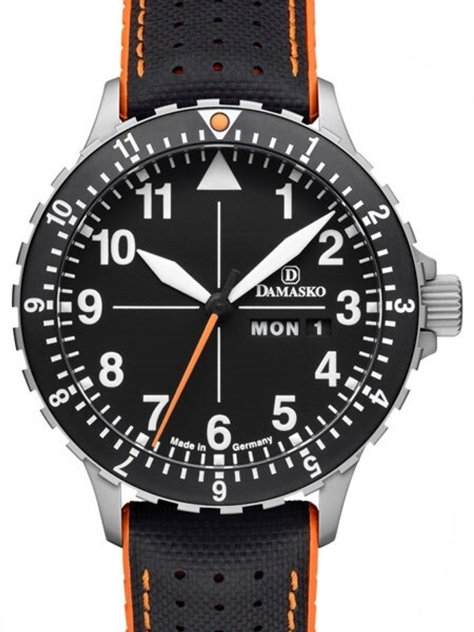 Damasko Swiss ETA Automatic with a Rotating 12-Hour Bezel and Stainless Steel Case #DA42