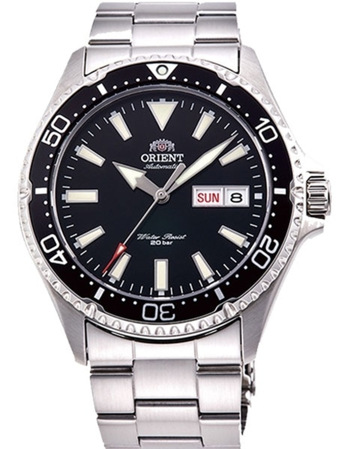 Orient Kamasu Black Dial Automatic Dive Watch with Sapphire Crystal #RA-AA0001B19A