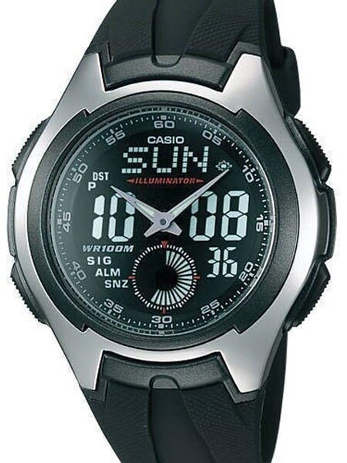 Casio Analog-Digital Dual Time Watch with Alarm and Stopwatch #AQ-160W-1-BV