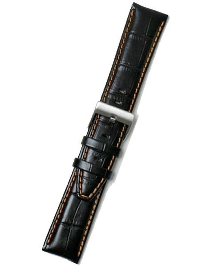 Calfskin Heavy Padded Strap with Orange Stitching (Alligator Grain) #RSV-21430-54