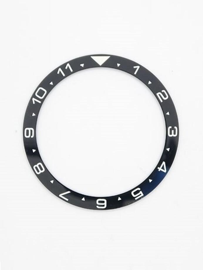 Black Ceramic Luminous (Dual-Time) Bezel Insert for Seiko SKX007, SKX009, SKX011 #C07