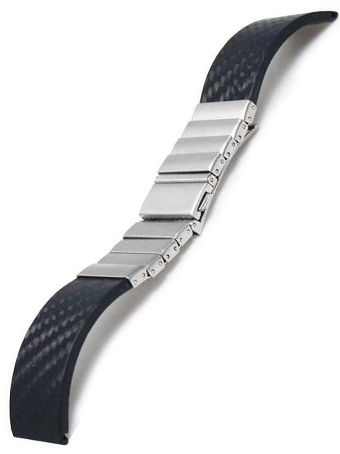 Vollmer Carbon Fiber and Stainless Steel Watch Bracelet #11002H7 (22mm)