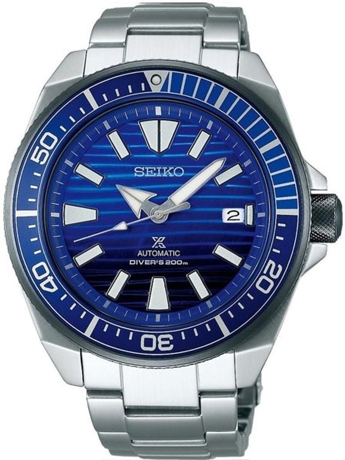 "Customized Seiko Samurai ""Save the Ocean"" Automatic Dive Watch #SRPC93"