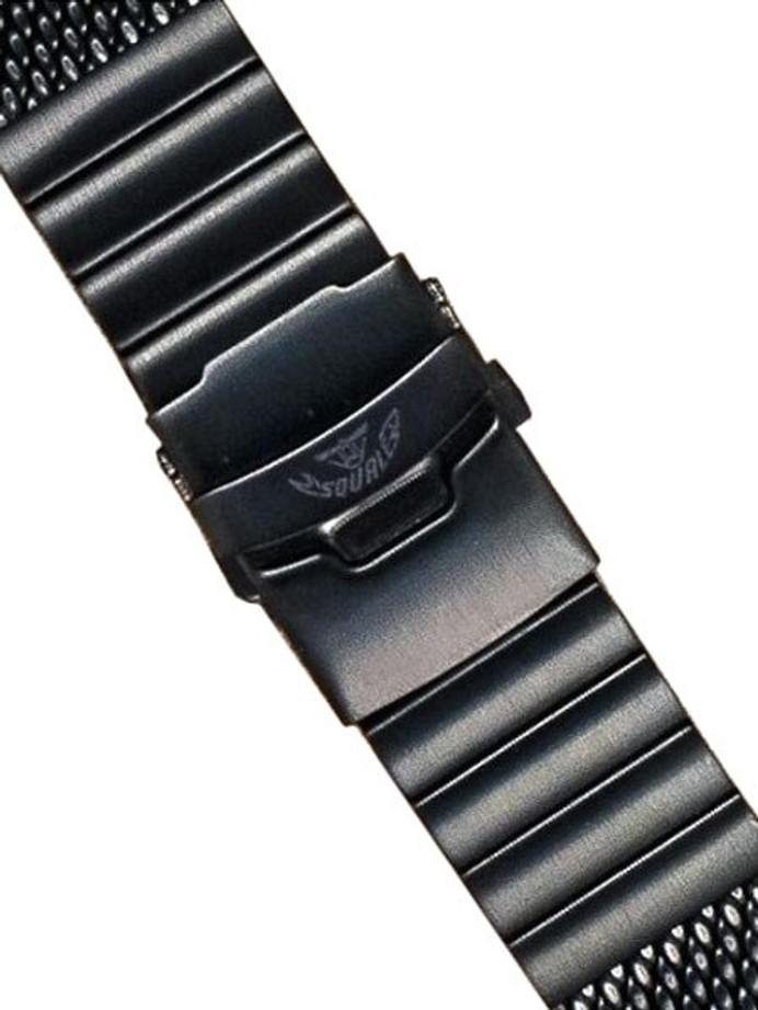 Squale 22mm Deluxe Black PVD Mesh Bracelet #2002-Mesh-PVD (22mm)
