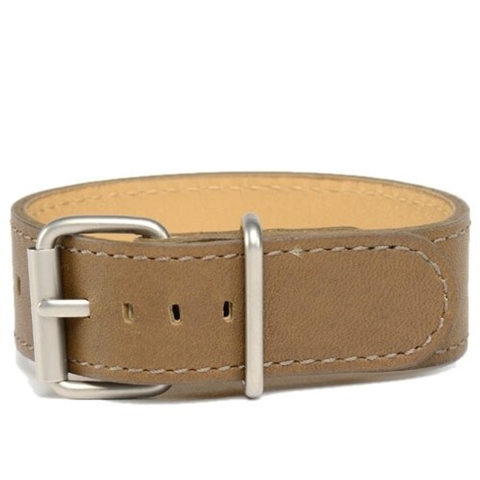 Bertucci Olive Brown Montanaro Survival Leather Strap with Stainless Steel Buckle #9M