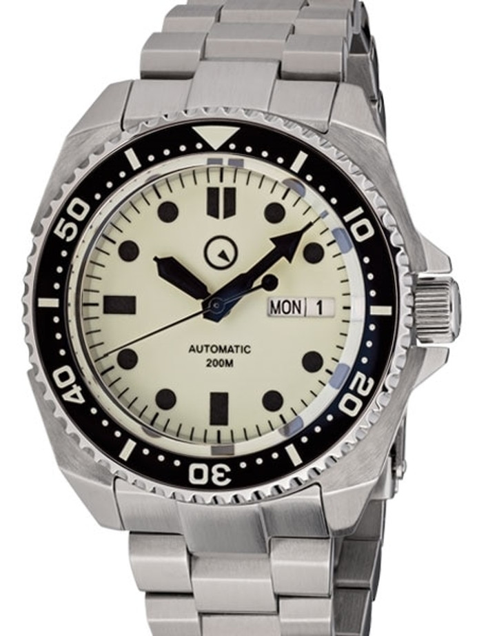 Islander Luminous Dial Automatic Dive Watch with AR Double-Dome Sapphire Crystal, and Lumious Ceramic Bezel Insert #ISL-26