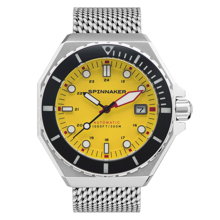 Spinnaker Dumas Automatic 300 Meter Dive Watch with Stainless Steel Mesh Bracelet #SP-5081-44