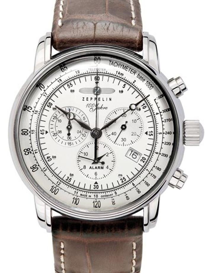 Graf Zeppelin Swiss Quartz Chronograph Watch with Alarm Function #7680-1