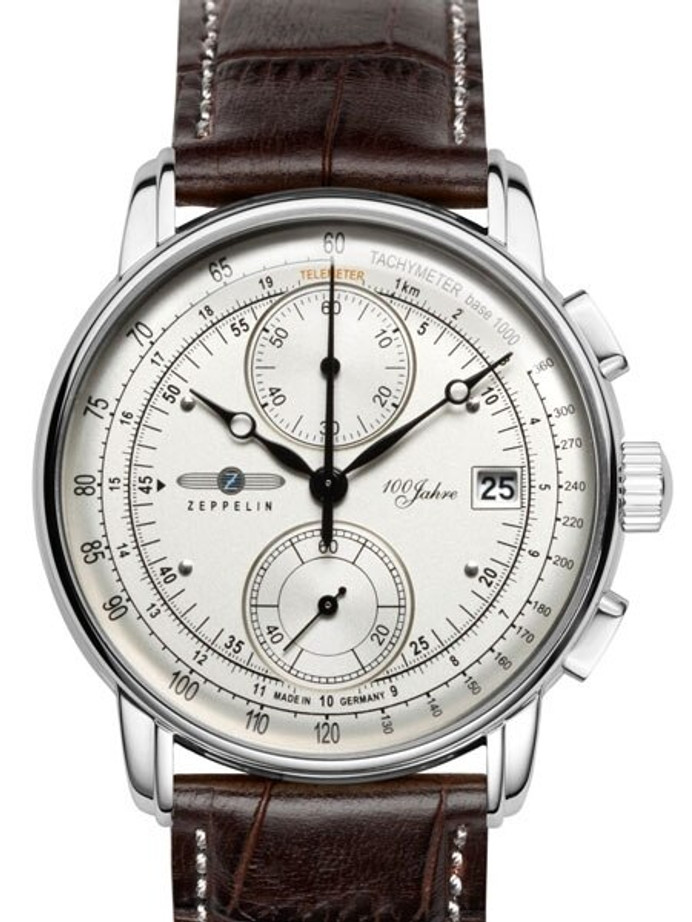 Graf Zeppelin Two-Eye Quartz Chronograph Watch with 60-Minute Stopwatch #8670-1