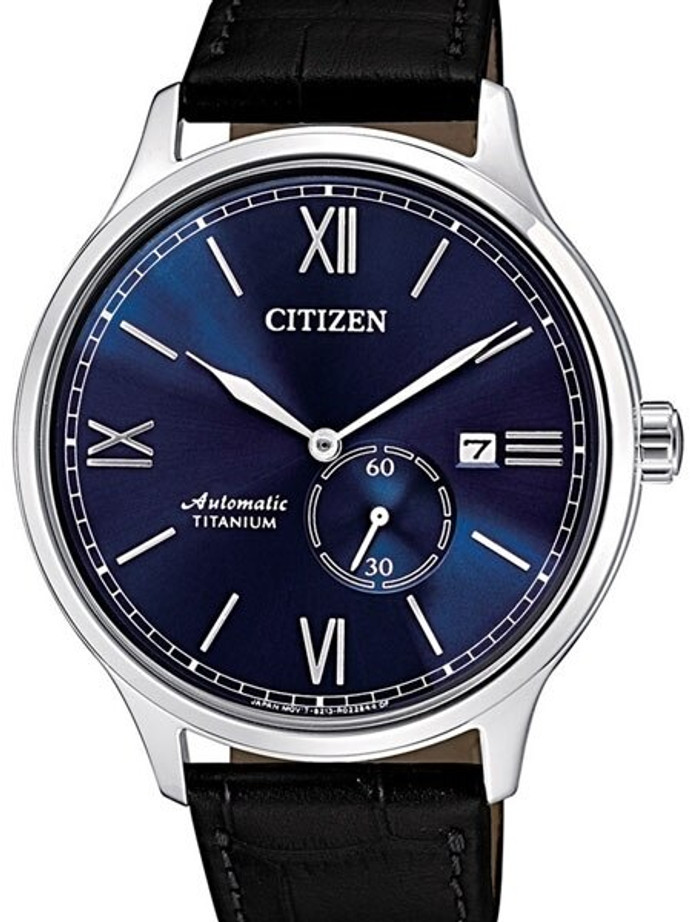 Citizen Automatic Titanium Watch with Sunburst Blue Dial #NJ0090-21L