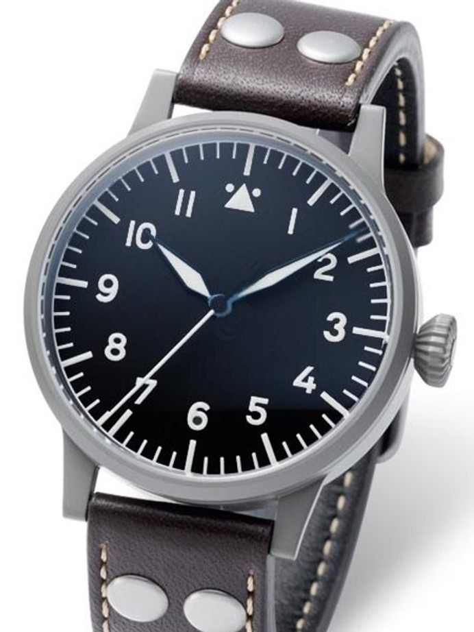 Laco Memmingen Type A Dial Swiss Mechanical Pilot Watch with Sapphire Crystal #861746