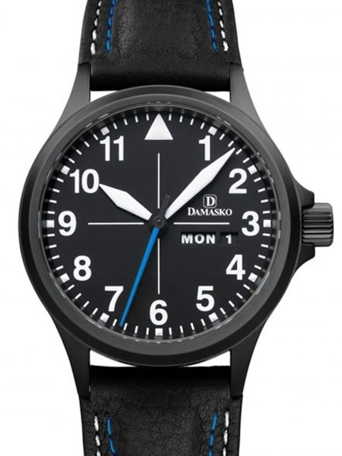 Damasko Swiss ETA Automatic with a 40mm Black PVD Case, Black Dial #DA38BK
