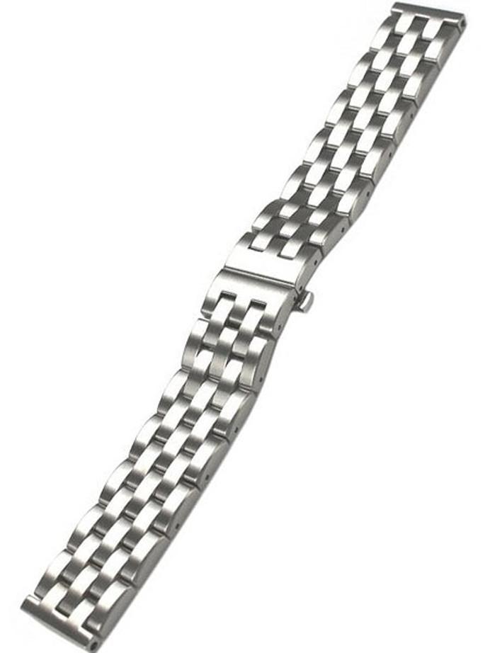 Vollmer Brushed Finish Solid Link Heavy Bracelet #07042H7 (22mm)