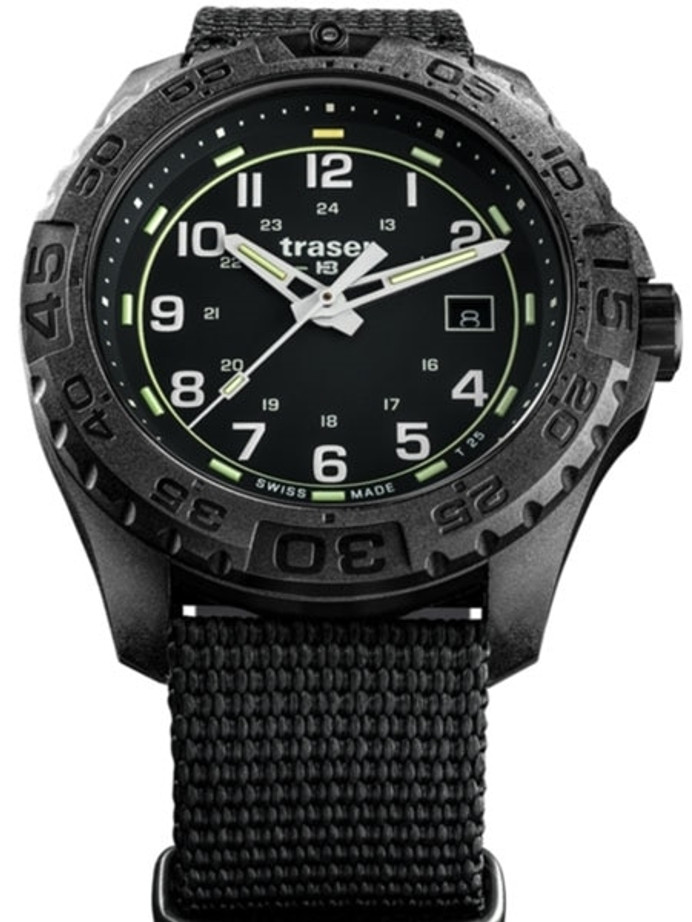Traser Swiss Tactical Watch with Trigalight Illumination and AR Sapphire Crystal#108673