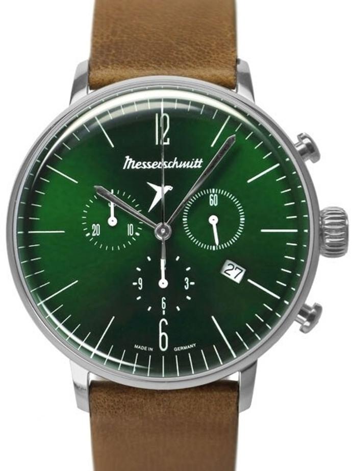 Messerschmitt Bauhaus Swiss Quartz Chronograph Watch with 12-Hr Totalizer #ME-4H184