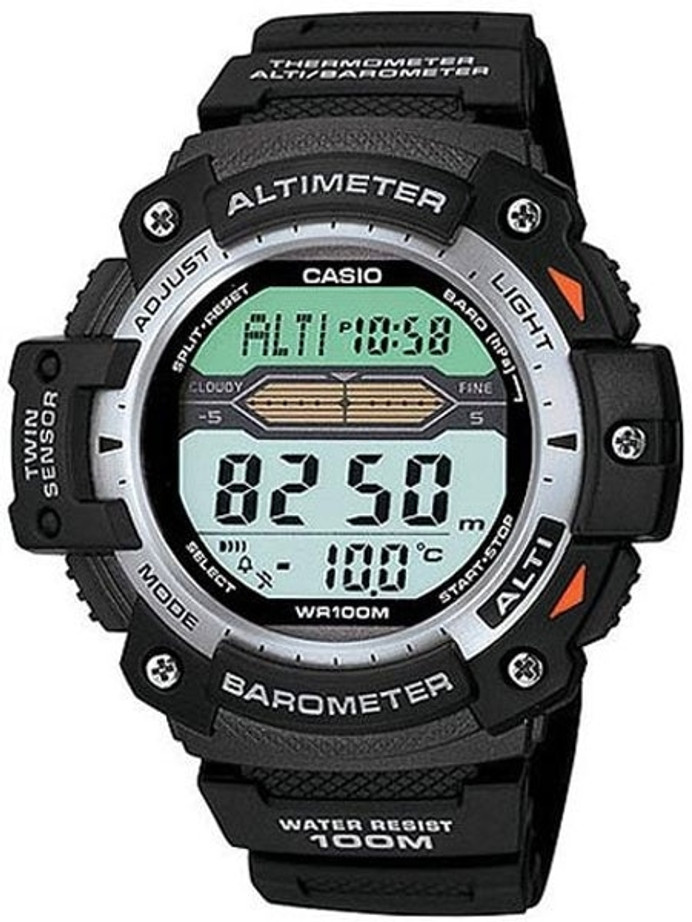 Casio Pro Trek Altimeter/Barometer/Thermometer/Chrono and Alarm Watch #SGW-300H-1AV