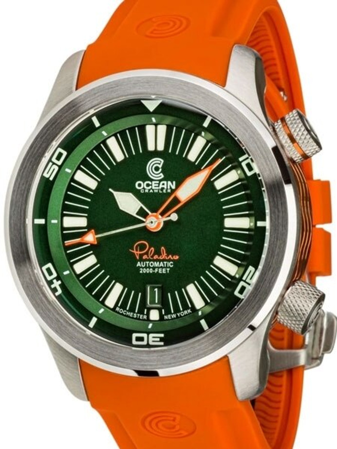 Ocean Crawler 600-Meter Paladino WaveMaker Swiss Automatic Dive Watch with Inner Rotating Bezel #1333