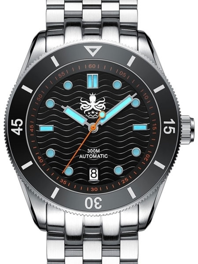 PHOIBOS Wave Master 300-Meter Automatic Dive Watch with AR Sapphire Crystal #PY010C