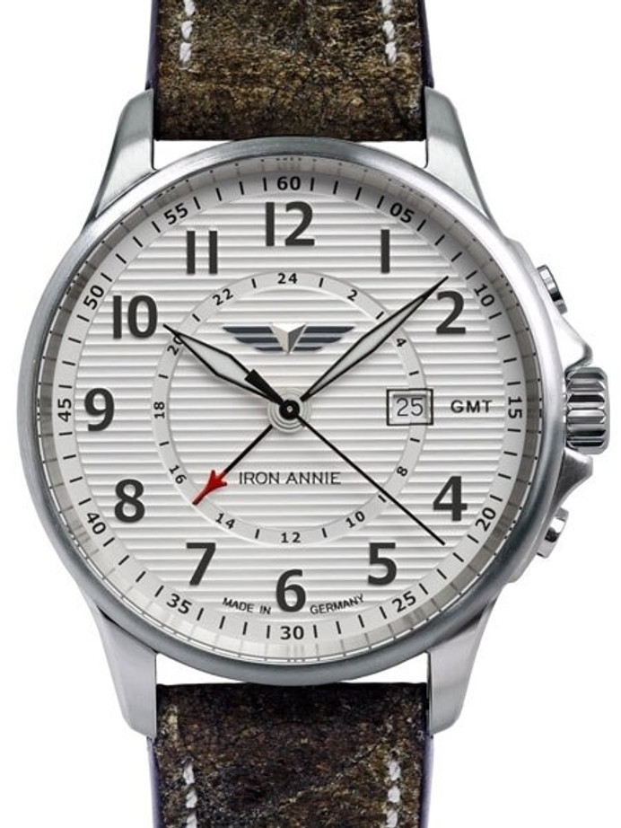 Iron Annie Dual Time GMT Pilot Watch with Luminous Hands #5840-1