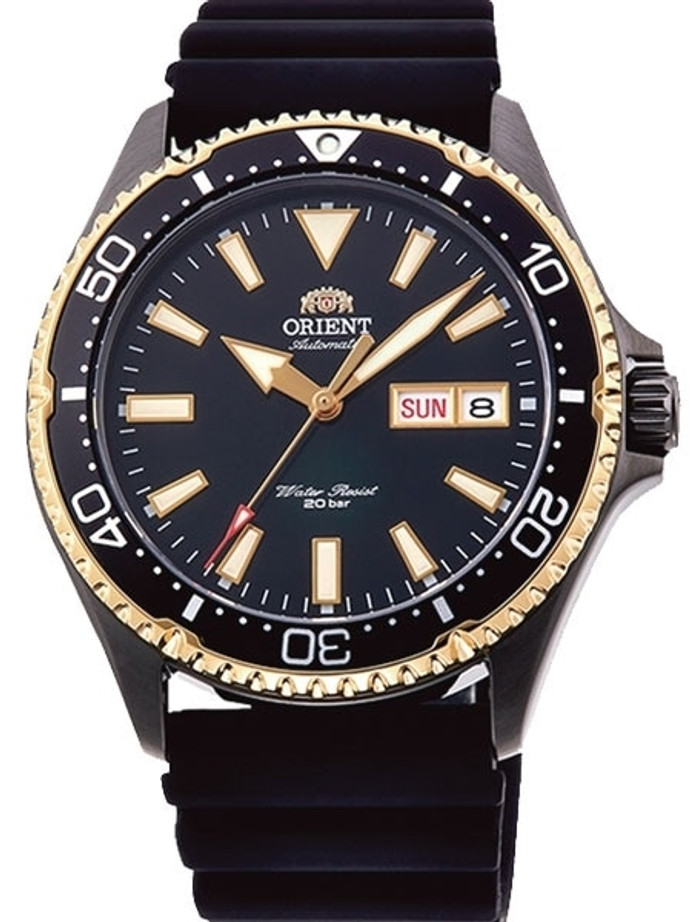 Orient Kamasu Black Dial Automatic Dive Watch with Sapphire Crystal #RA-AA0005B19A