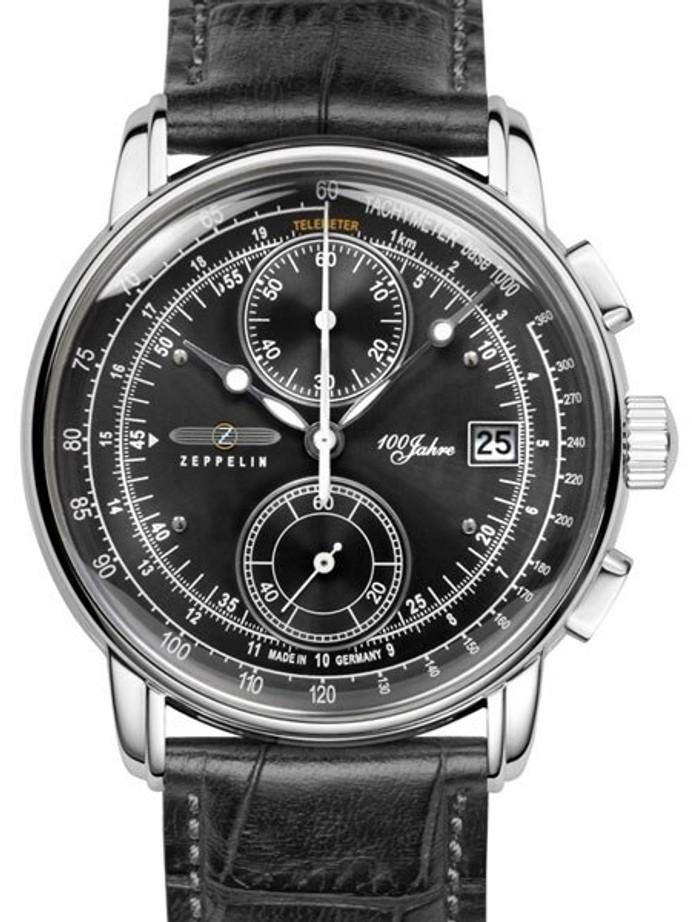 Graf Zeppelin Two-Eye Quartz Chronograph Watch with 60-Minute Stopwatch #8670-2