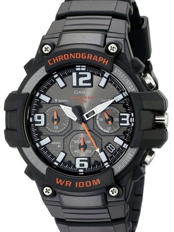 Casio Analog Chronograph Watch with 24-Hour Sub-Dial #?áMCW-100H-1AV