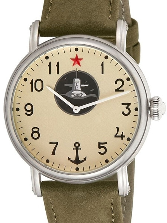 Red Star Submarine, Hand Wind Mechanical Watch with 42mm Case #6448G-C