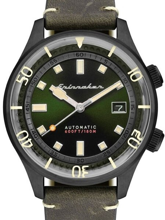 Spinnaker Bradner 42m Vintage-Style Automatic Sport Watch with a Luminous Bezel #SP-5062-04