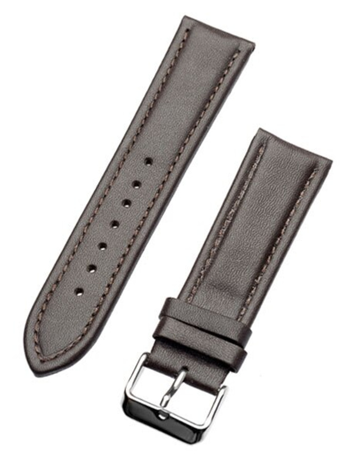 Calfskin Brown Leather Strap with Heavy Padding #RB6-38380