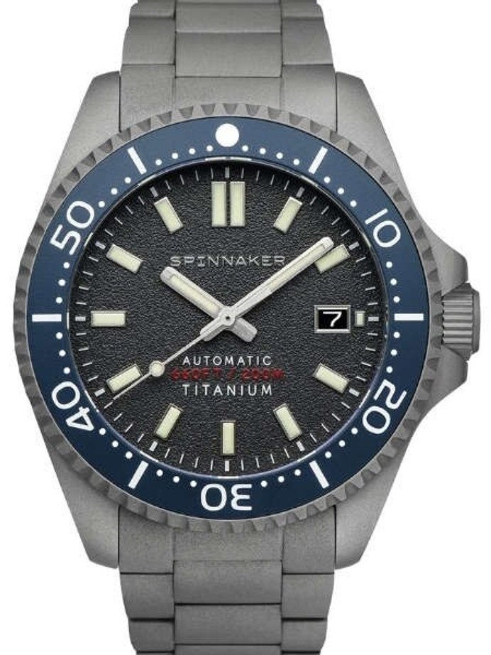 Spinnaker Tesei Titanium Automatic 200 Meter Dive Watch With Dark Grey Dial SP-5084-44