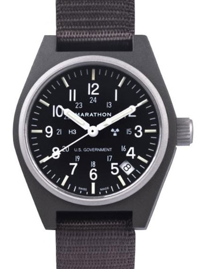 Marathon Swiss Made Quartz Military General Purpose Watch with Tritium Illumination #WW194015SG