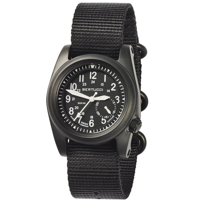 Bertucci A-2S Ballista 40mm Black ION Stainless Steel Watch with Sapphire Crystal #11086