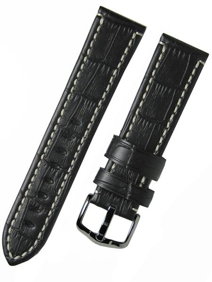 Hirsch Knight High Grade Alligator Embossed Leather Watch Strap #109028-50