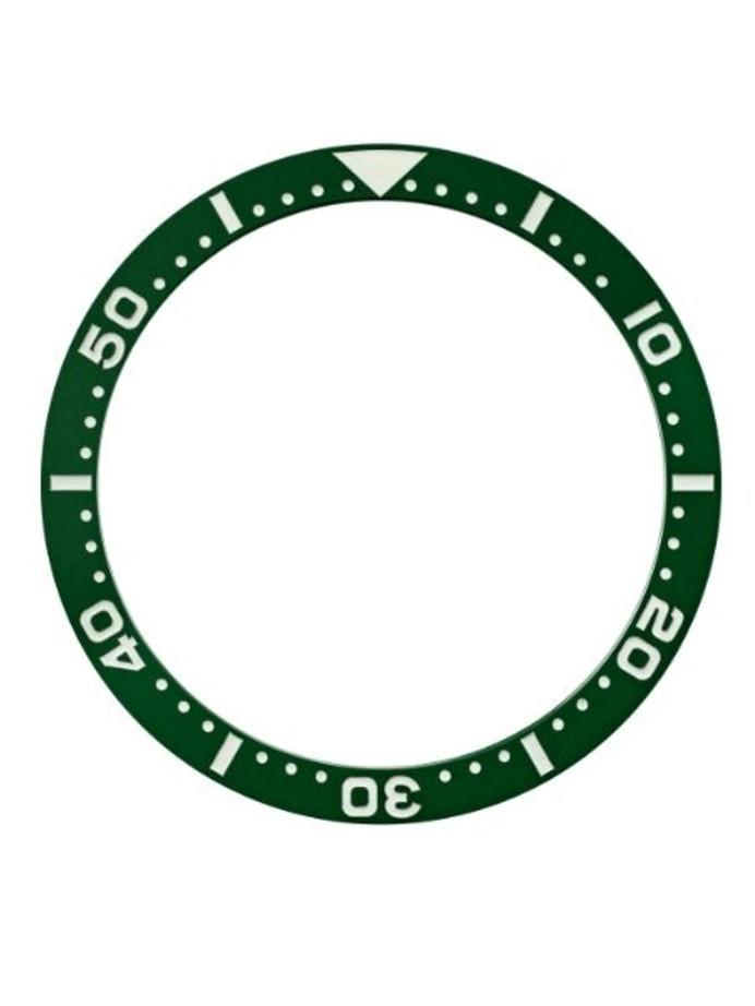 Green Ceramic Luminous Bezel Insert for Seiko SKX007, SKX009, SKX011 #C27