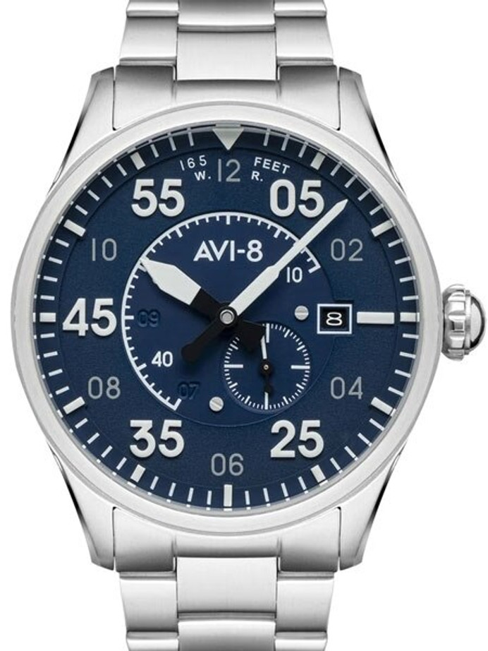 AVI-8 Spitfire Type 300 Edition, 21-Jewel Automatic Pilot Watch, AR Sapphire Crystal #AV-4073-11
