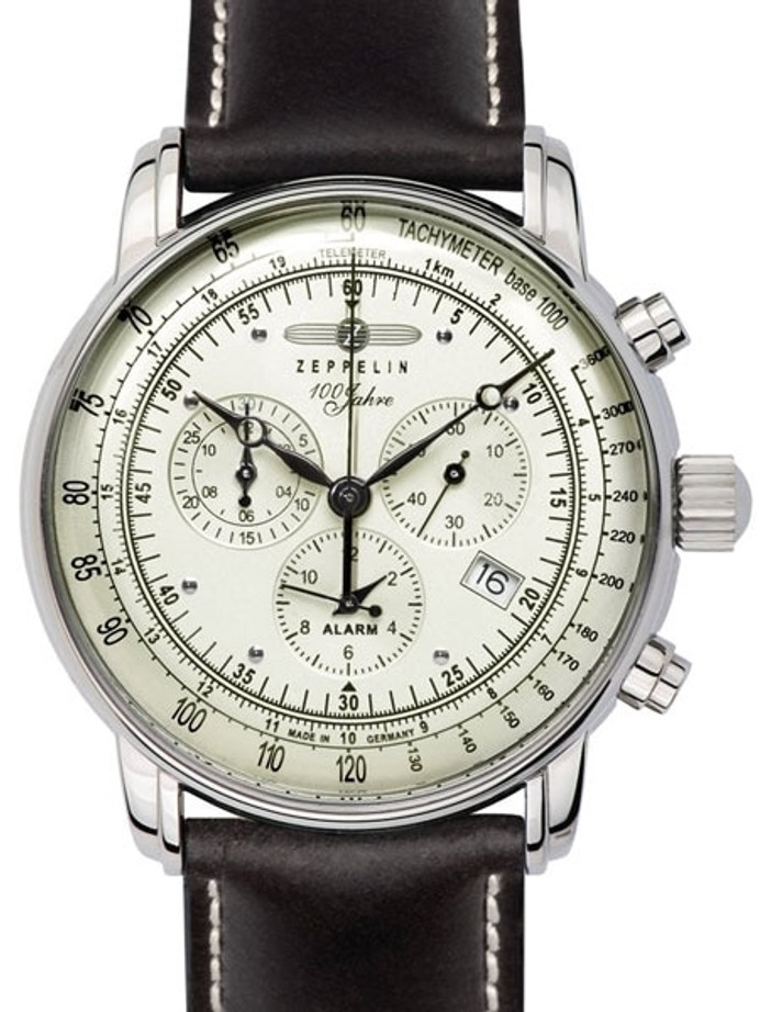 Graf Zeppelin Swiss Quartz Chronograph Watch with Alarm Function #8680-3