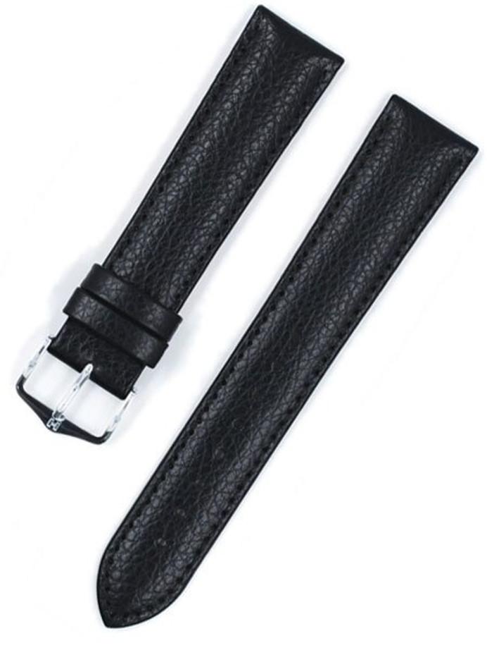 Hirsch Kansas Black Soft Calf Leather Watch Strap #015020-50