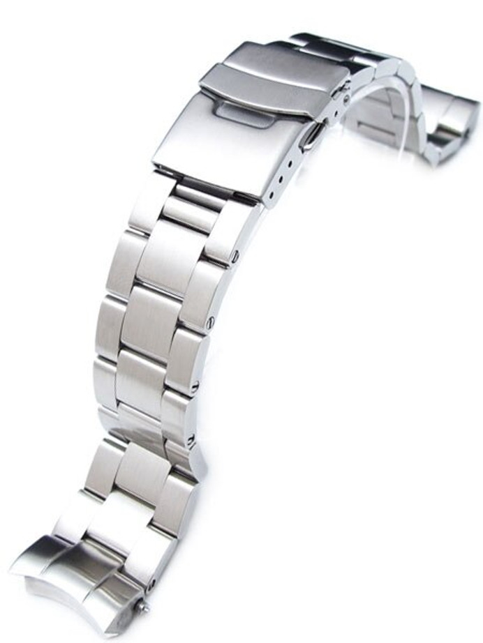 """Strapcode 20mm Super-O """"Boyer"""" watch band for SEIKO Sumo Curved End #SS201803B032"""