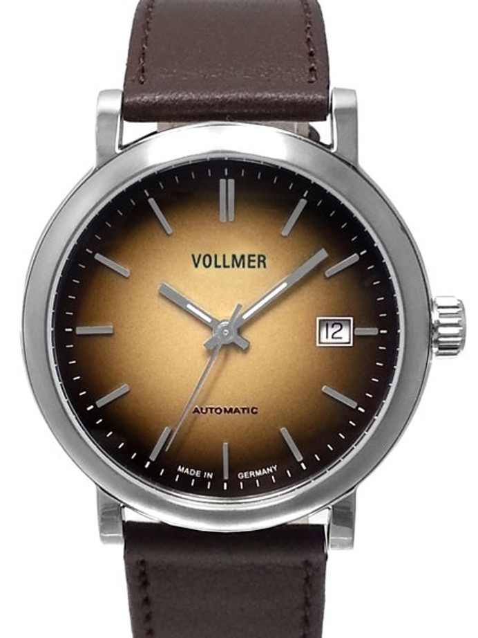 Vollmer Brown Focus Swiss ETA Automatic Watch with Ombr??-like Brown Dial #4H172