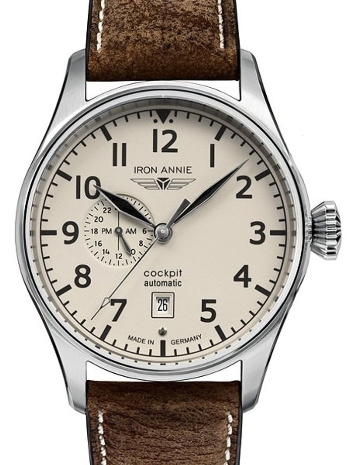 Iron Annie Automatic Watch with 42mm Case and Fully Luminous Dial #5168-3