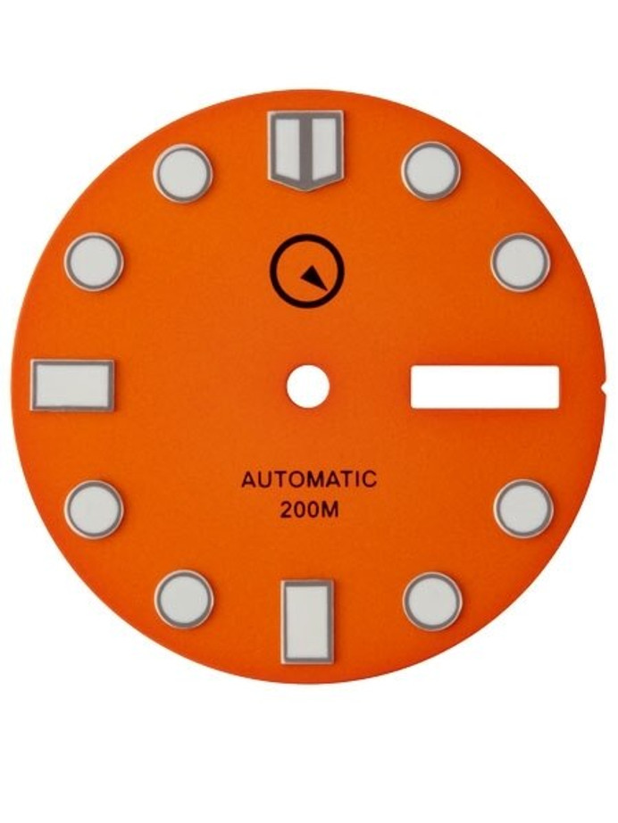 Orange Dial with SuperLuminova for Seiko 7S26, NH36 and 4R36 Movements #D04