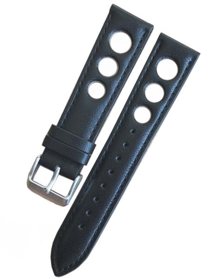 Horween Leather Rally Sport Strap with Stainless Steel Buckle #INS-HOR-Rally01