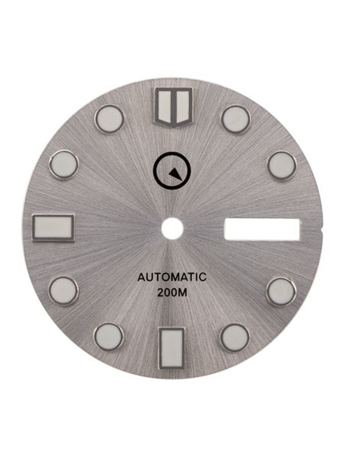 Silver Dial with SuperLuminova for Seiko 7S26, NH36 and 4R36 Movements #D06