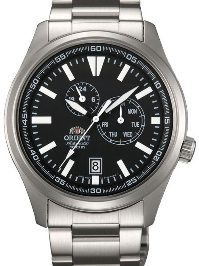Orient 21-Jewel Automatic Field Watch with 24-Hour Sub-Dial #ET0N001B