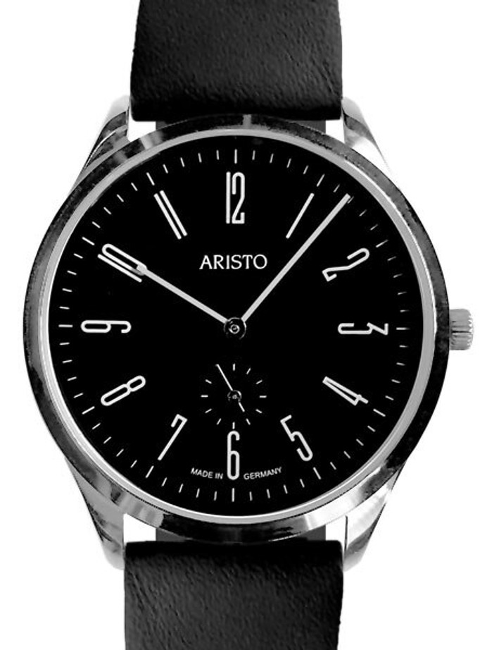 Aristo Bauhaus Style Watch with Swiss Ronda Quartz Movement #4H193