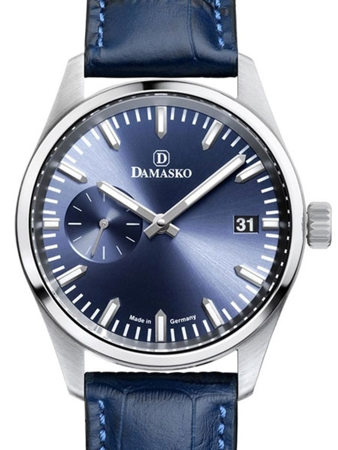 Damasko High-Beat Mechanical (Hand Wind) Watch with an Sunburst Blue Dial Dial #DK105-B