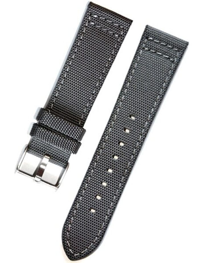 Toscana Gray Canvas with Leather Backing Watch Strap #INS-CAN31