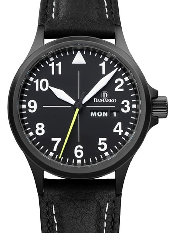 Damasko Swiss ETA Automatic with a 40mm Black PVD Case, Black Dial #DA36BK