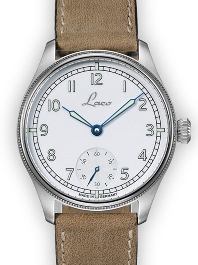 Scratch and Dent - Laco Cuxhaven Manual Winding Navy Watch with AR Sapphire Crystal #862104